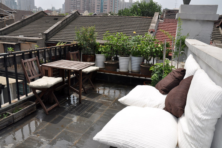 A picture of our balcony in Shanghai.
