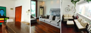 A big four bedroom apartment in French Concession.