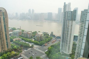 View from the apartment in the Pudong Area.