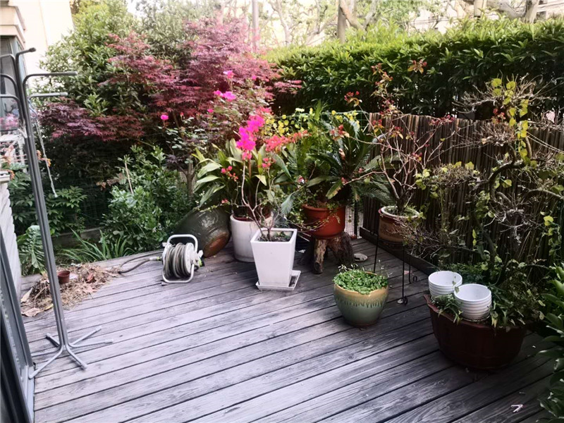 Shanghai apartment rent with gardens near SCIS